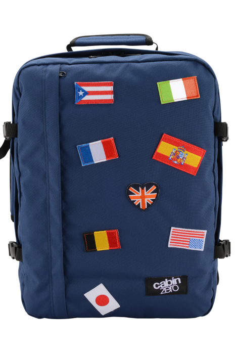 CabinZero 44L Classic Flags Singapore - Backpack 44L Navy Flags - the-Expedition.com