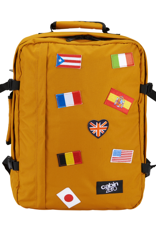 CabinZero 44L Classic Flags Singapore - Backpack 44L Orange Chill Flags - the-Expedition.com