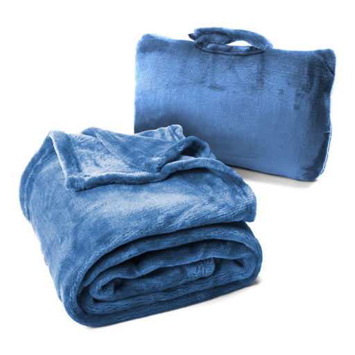 Cabeau Fold 'n Go™ Blanket & Case Singapore - Flight Blanket Blue - the-Expedition.com
