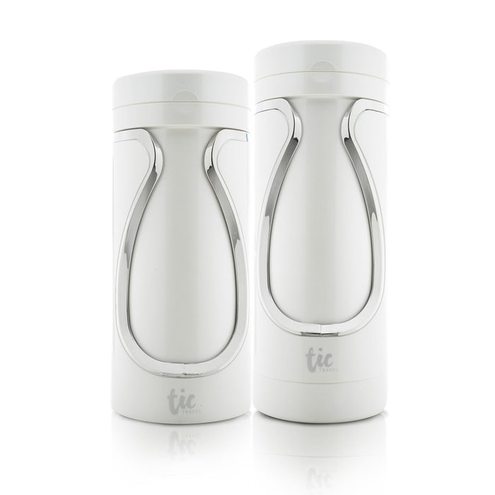TIC Travel Bottles Singapore - Soap Container Shower & Skin Set / Pearl White - the-Expedition.com