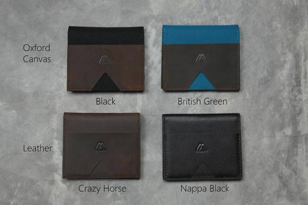 Modest Mark Bifold Wallet With Walkie Pen Singapore - Wallet British Green Oxford Canvas - the-Expedition.com