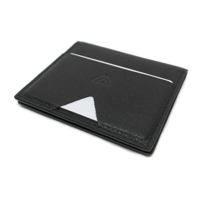 Modest Mark Bifold Wallet With Walkie Pen Singapore - Wallet Black Full Grain Nappa Leather - the-Expedition.com