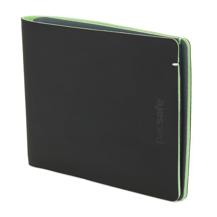 Pacsafe RFIDsafe TEC Bifold Wallet Singapore - Wallet Black & Lime - the-Expedition.com