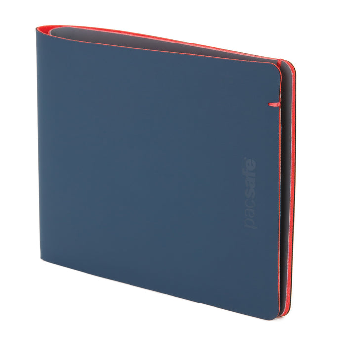 Pacsafe RFIDsafe TEC Bifold Wallet Singapore - Wallet Navy & Red - the-Expedition.com