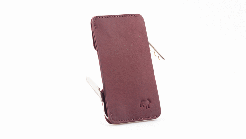 Frenchie Speed Key Holder Singapore - Wallet Burgundy/Tan - the-Expedition.com
