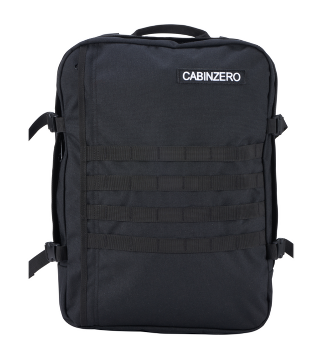 CabinZero 36L Adventure Military Singapore - Backpack Black - the-Expedition.com