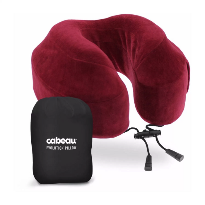 Cabeau Memory Foam Evolution Travel Pillow Singapore - Travel Pillow Crimson - the-Expedition.com