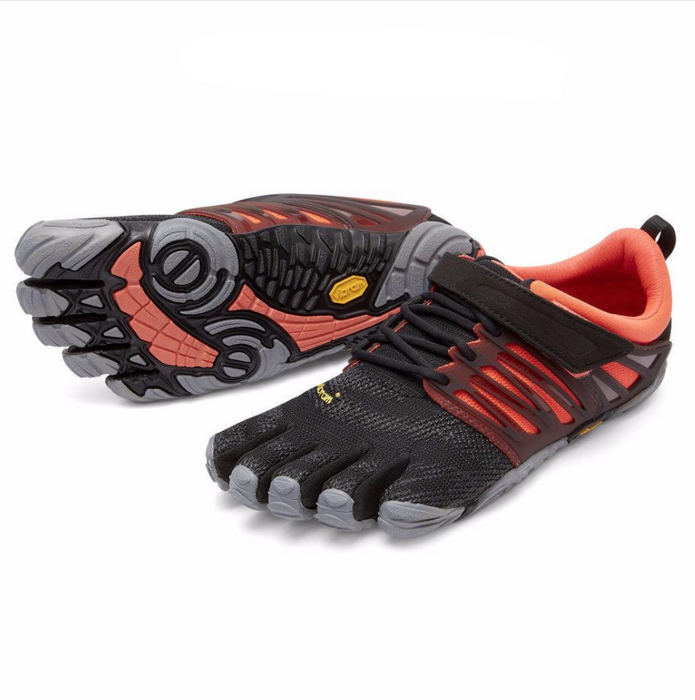Vibram FiveFingers V-Train Singapore - Footwear Womens Black/Coral/Grey 37 - the-Expedition.com