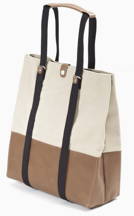 Qwstion Shopper V1 Singapore - Tote Brown Leather Canvas - the-Expedition.com