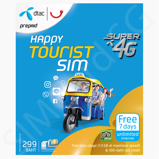 Thailand SIM Card with Data (dtac) Singapore - SIM Card  - the-Expedition.com