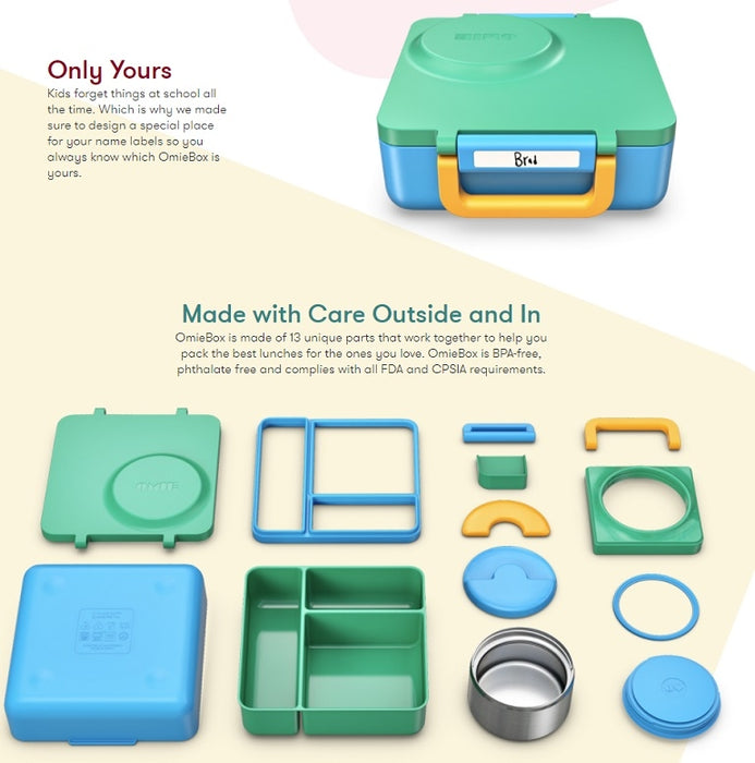OmieBox Kids Thermos-Insulated Bento Lunch Box Singapore - Lunchbox  - the-Expedition.com