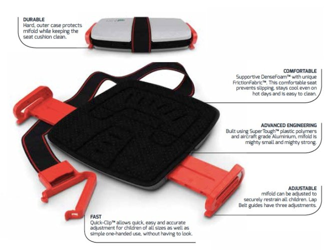 Mifold Booster Seat Singapore - Car Seat  - the-Expedition.com