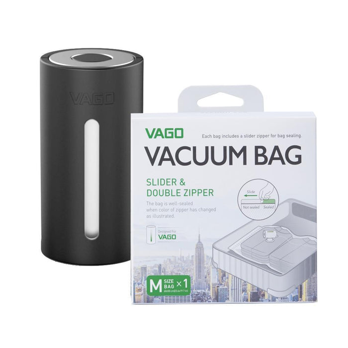 VAGO Compressor Bags Singapore - Packing Cube VAGO Black with x1 M bag - the-Expedition.com
