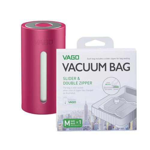 VAGO Compressor Bags Singapore - Packing Cube VAGO Pink with x1 M bag - the-Expedition.com