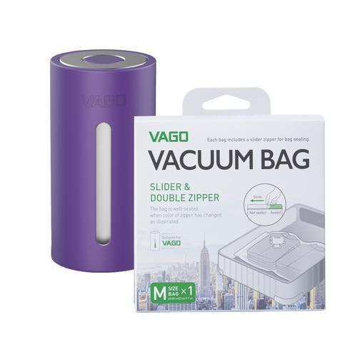 VAGO Compressor Bags Singapore - Packing Cube VAGO Purple with x1 M bag - the-Expedition.com