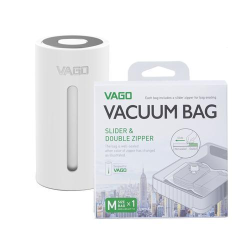 VAGO Compressor Bags Singapore - Packing Cube VAGO White with x1 M bag - the-Expedition.com