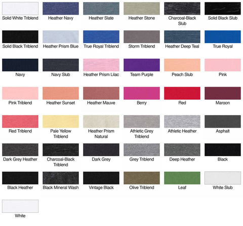 Ladies Relaxed Color Chart