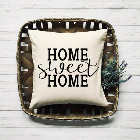 home sweet home square throw pillow