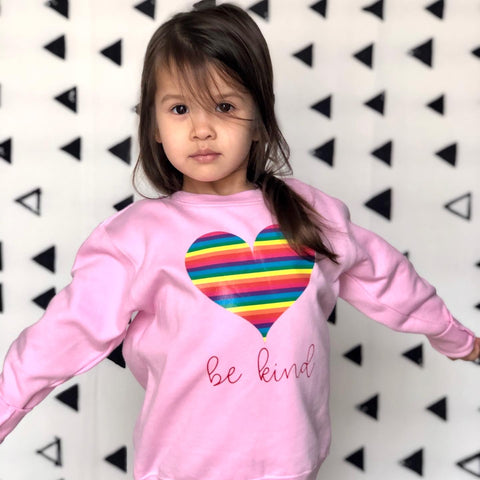 Be Kind Rainbow Hearts Sweater - HoMade Studio