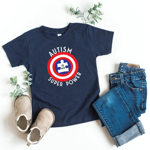 Autism is My Superpower Kids Tee - HoMade Studio