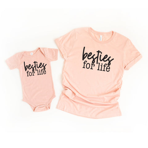 Besties For Life Mommy and Me Set of 2 Matching Shirts (Toddler) - HoMade Studio