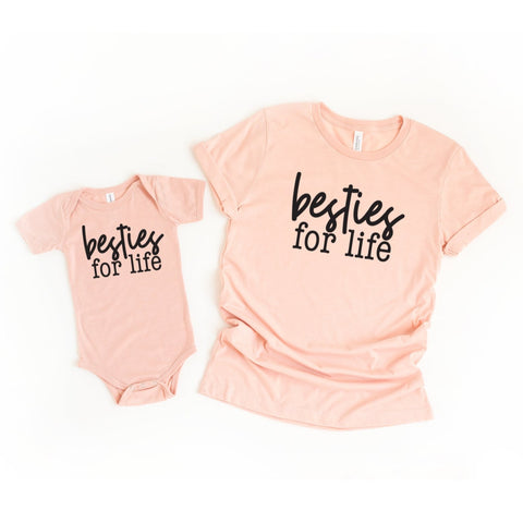 Besties For Life Mommy and Me Set of 2 Matching Shirts - HoMade Studio