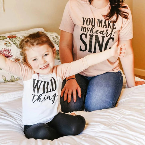 Wild Thing You Make My Heart Sing Mommy and Me Set - HoMade Studio