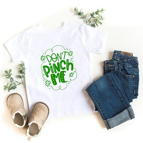 Don't Pinch Me St. Patrick's Day Kids Shirt - HoMade Studio