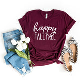Happy Fall Y'all Womens Fall T-Shirt - HoMade Studio
