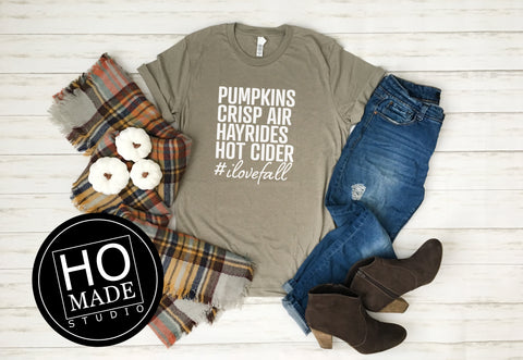 I Love Fall T-Shirt - HoMade Studio