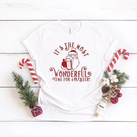 It's The Most Wonderful Time For A Beer Christmas Shirt - HoMade Studio