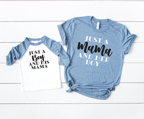 Just a Mama and her Boy Mommy and Me Set of 2 Matching Shirts - HoMade Studio
