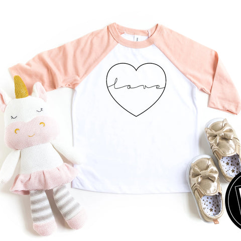 Love In My Heart Raglan Tee - HoMade Studio