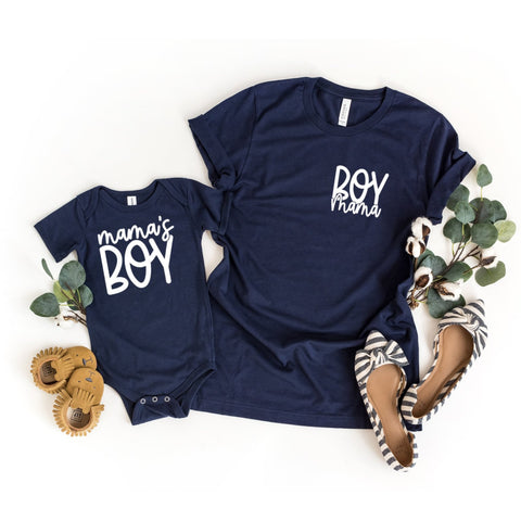 Mama's Boy and Boy Mama Set of 2 Matching Shirts - Ho Made Studio