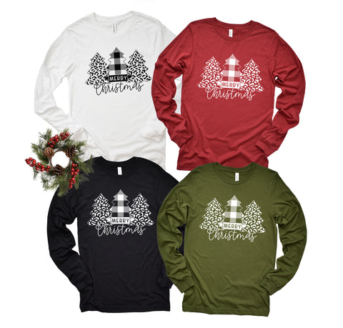 Merry Christmas Long Sleeve Christmas Shirt- HoMade Studio