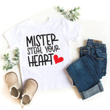 Mister Steal Your Heart Valentine's Day Kids Shirt - HoMade Studio