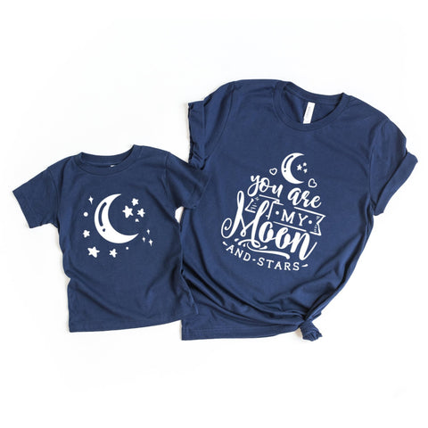 You are My Moon and Stars Matching Mommy and Me Shirts - HoMade Studio