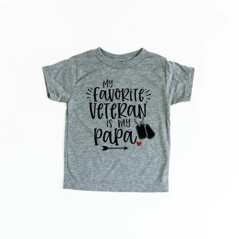 My Favorite Veteran is My Papa Kids T-Shirt - HoMade Studio