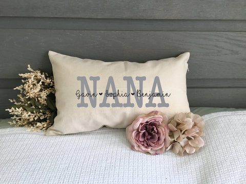 Nana Personalized Throw Pillow - HoMade Studio
