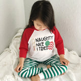 Naughty Nice I Tried Kids Christmas Long Sleeve Shirt