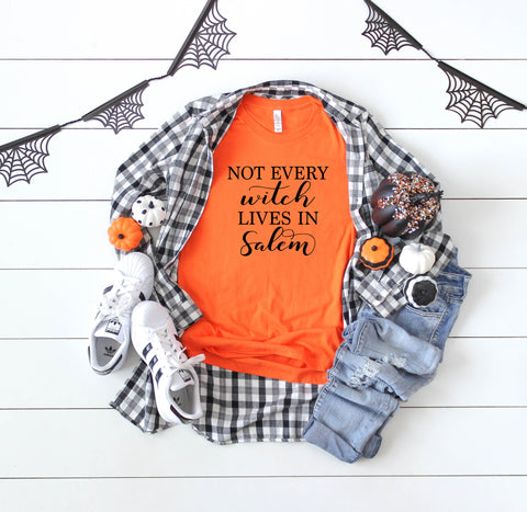Halloween T-Shirt | Not Every Witch Lives In Salem