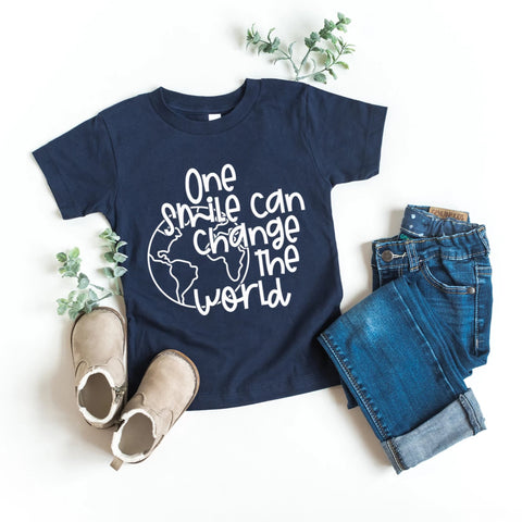 One Smile Can Change The World Kids T-Shirt - HoMade Studio