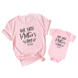 Our First Mother's Day Matching Shirts Set, Mommy and Me Outfit