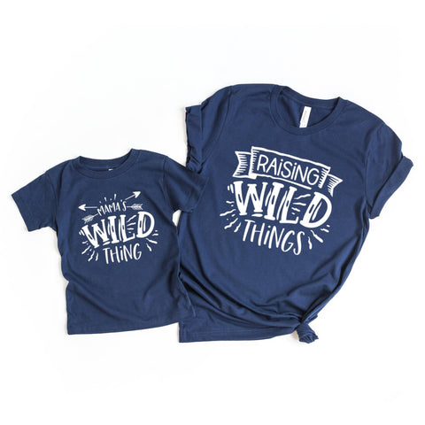 Raising Wild Things Mommy and Me Set of 2 Matching Shirts - HoMade Studio