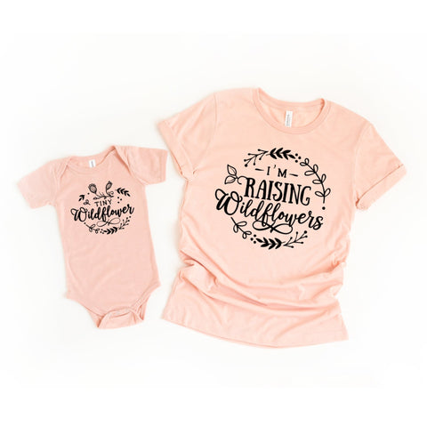 Raising Wildflowers Set of 2 Matching Mommy and Me Shirts - HoMade Studio