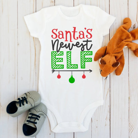 Santa's Newest Elf Baby Bodysuit - HoMade Studio