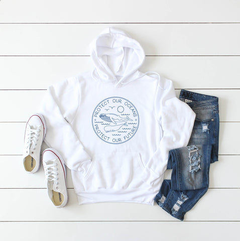 Protect Our Oceans Youth Hooded Sweater