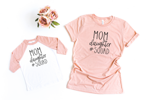 Mom Daughter Squad Mommy and Me Outfits, Mommy and Me Shirts - HoMade Studio