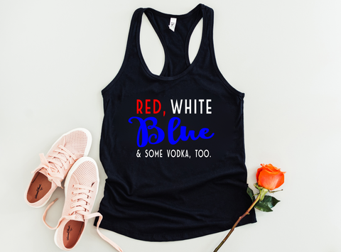 Red White & Blue (and Some Vodka Too) Tank - HoMade Studio