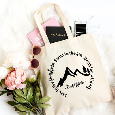 Live in the Sunshine Canvas Tote Bag - HoMade Studio